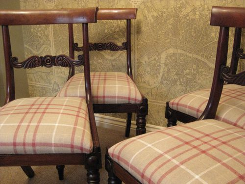 4 Rosewood Early 19th C Dining Chairs
