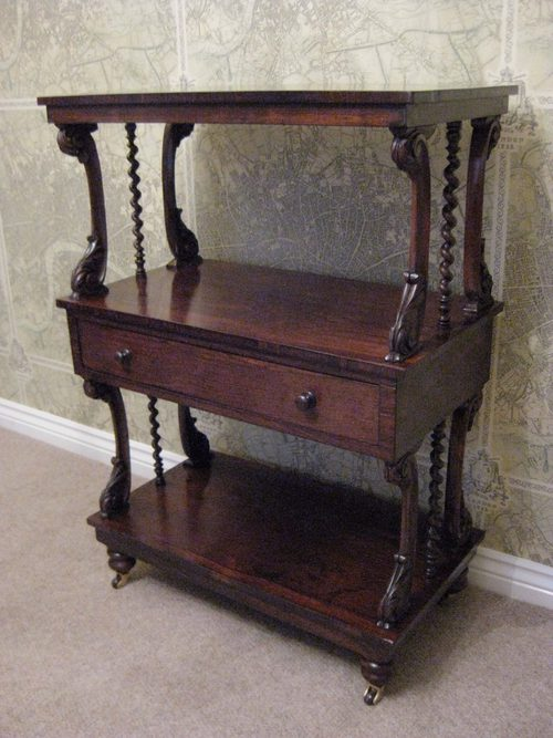 Early Victorian Rosewood Whatnot