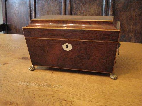 Regency Period Sarcophagus Tea Caddy