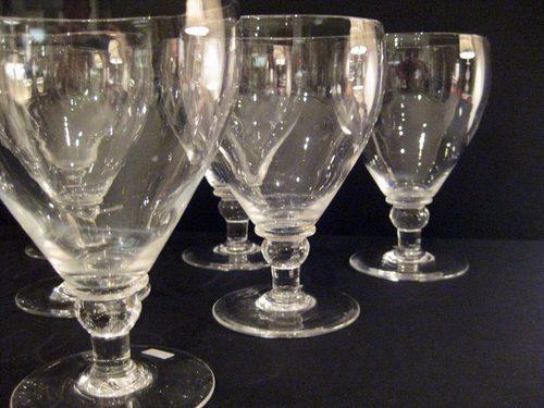 Set Of 10 Large Edwardian Wine Glasses