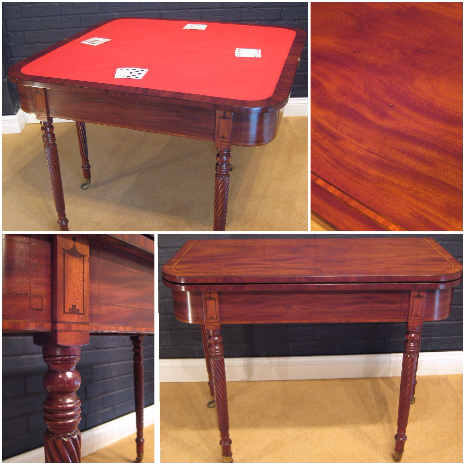 Regency Mahogany Card Table