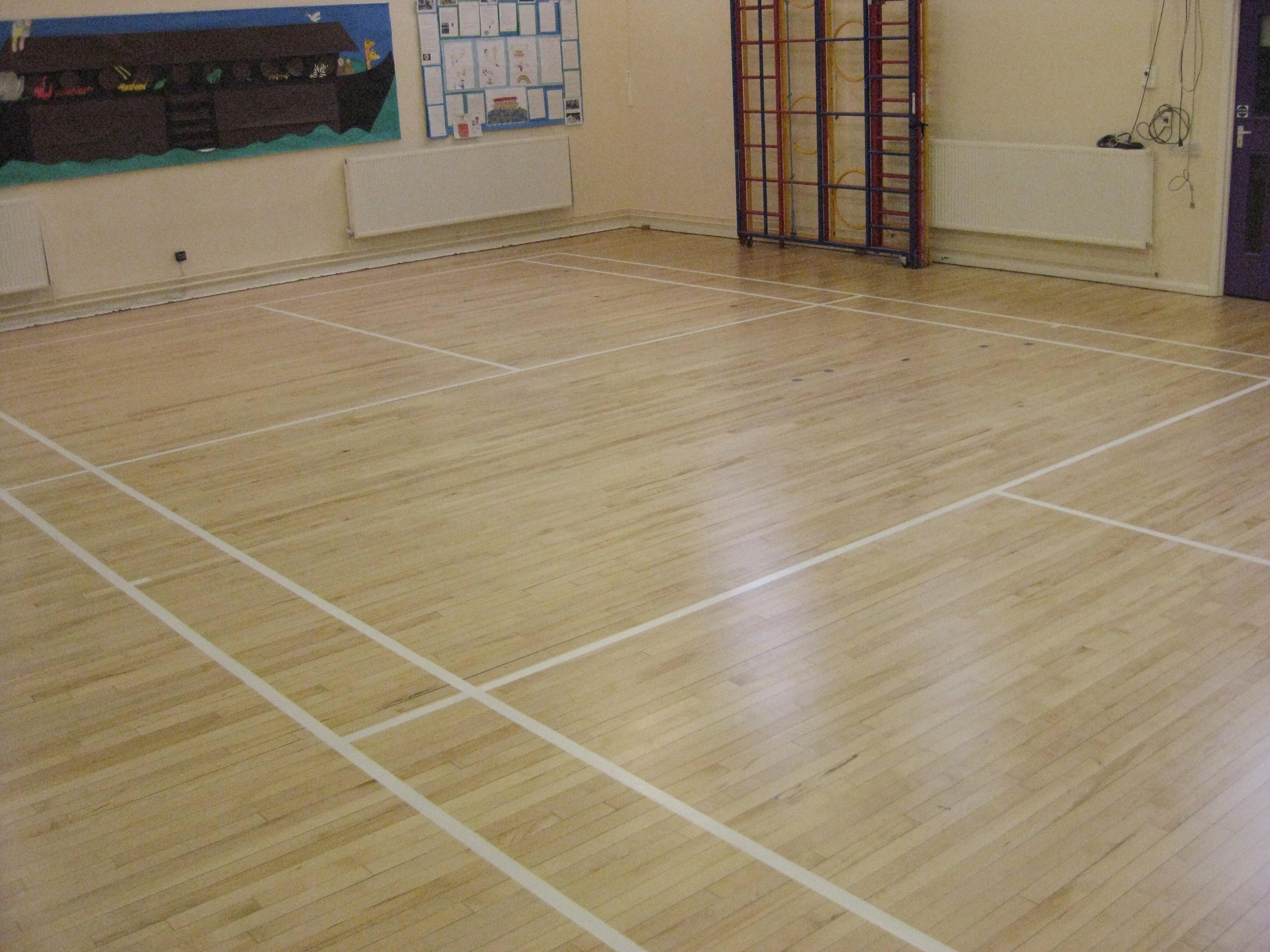 Restored Maple Gym Floor